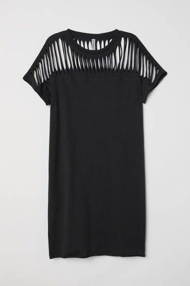 T-shirt dress - Black -  | H&M CN