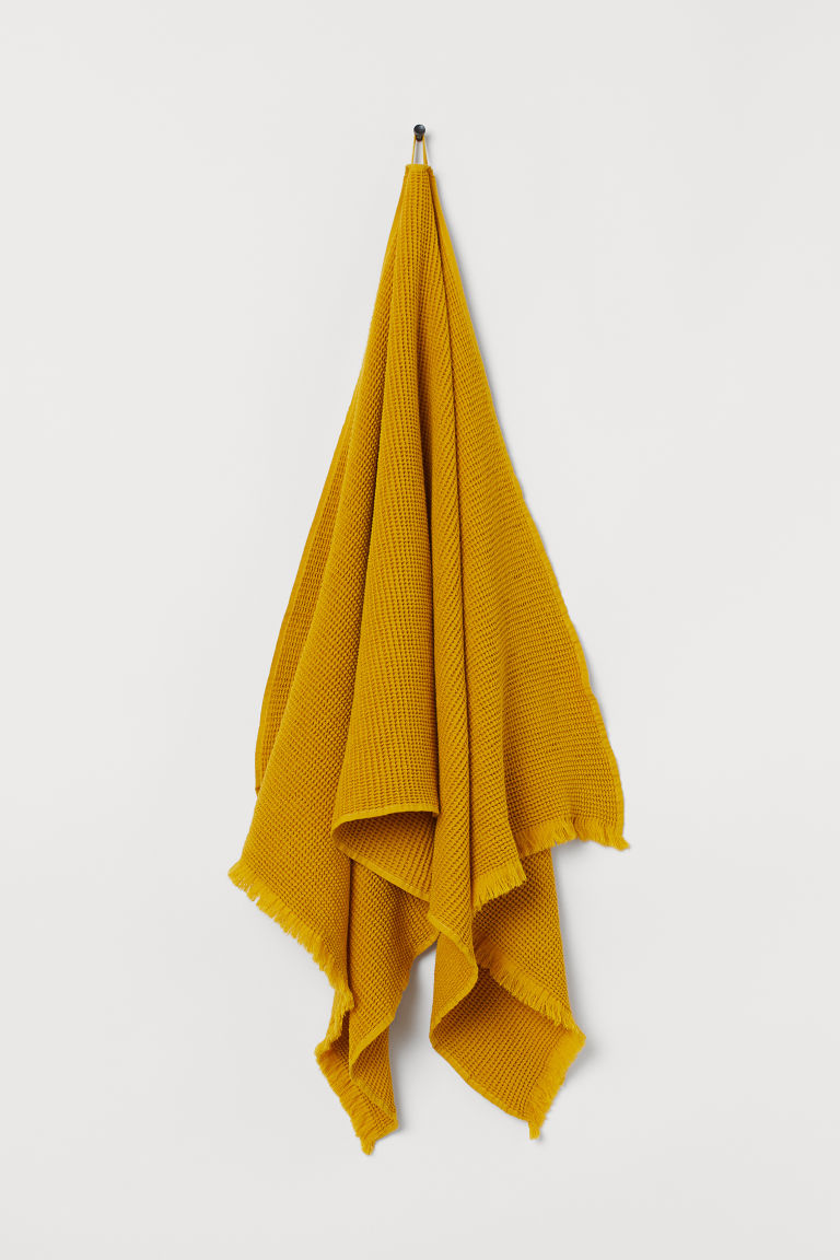 Waffled bath towel - Yellow - Home All | H&M GB