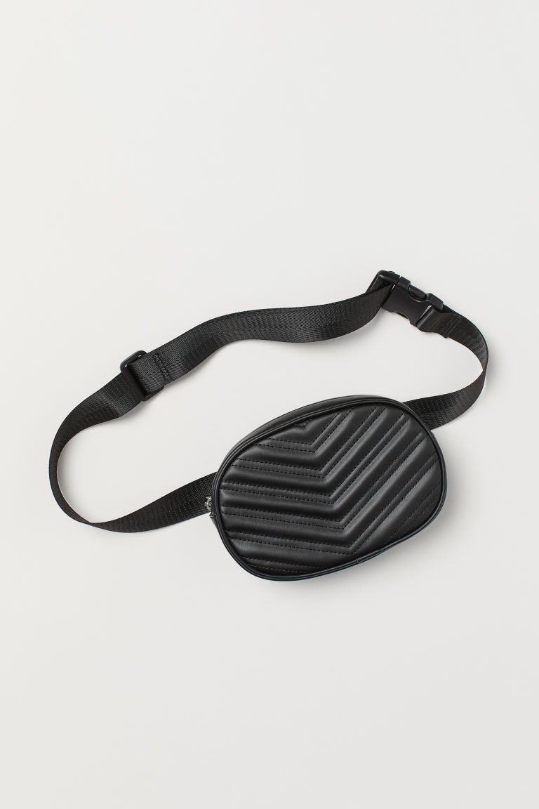 Waist bag - Black/Quilted -  | H&M GB