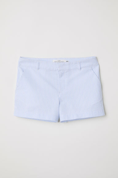 Shorts in cotone - Azzurro/seersucker - DONNA | H&M IT