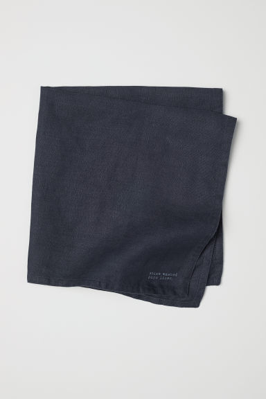 Washed linen napkin - Anthracite grey - Home All | H&M CN