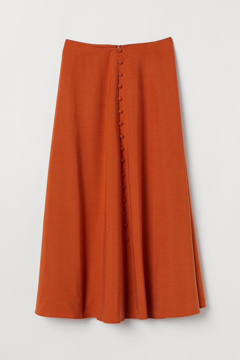 716b1aaa00 Falda en mezcla de lyocell - Naranja - MUJER
