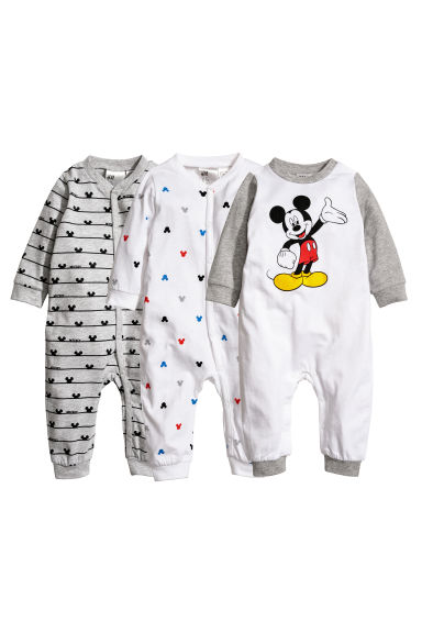 Pyjamas, lot de 3 - Blanc/Mickey -  | H&M FR