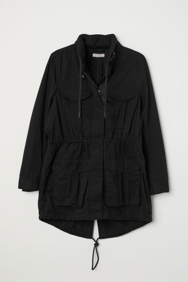 H&M+ Short cotton parka - Black -  | H&M CN