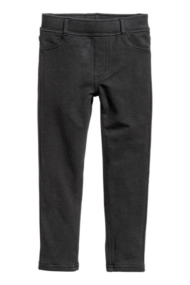 Sturdy jersey leggings - Black - Kids | H&M CN