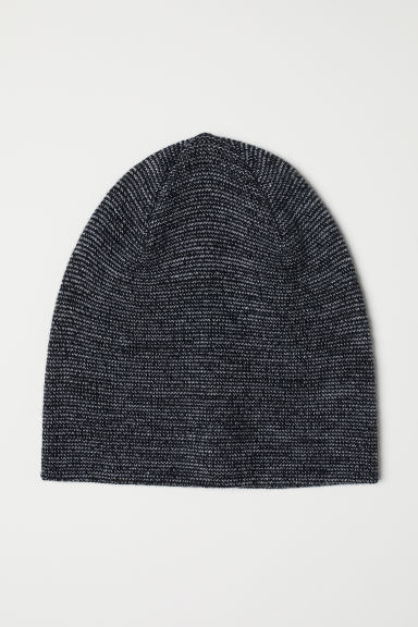 Knitted hat - Black marl -  | H&M