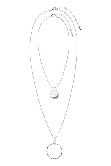 2-pack necklaces - Silver-coloured - Ladies | H&M IE
