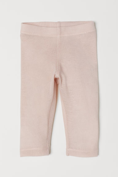 Wool leggings - Powder pink - Kids | H&M