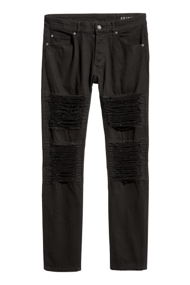 Trashed Skinny Jeans - Black - Men | H&M CN