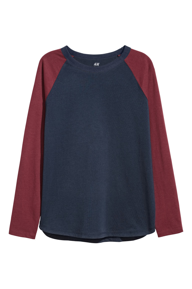 Long-sleeved T-shirt - Red - Kids | H&M CN