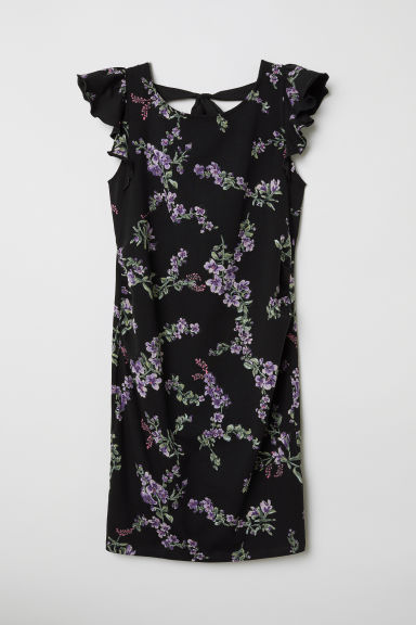 MAMA Jersey dress - Black/Floral - Ladies | H&M