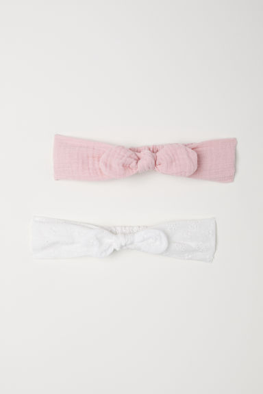 2-pack hairbands - Powder pink/Grey -  | H&M CN