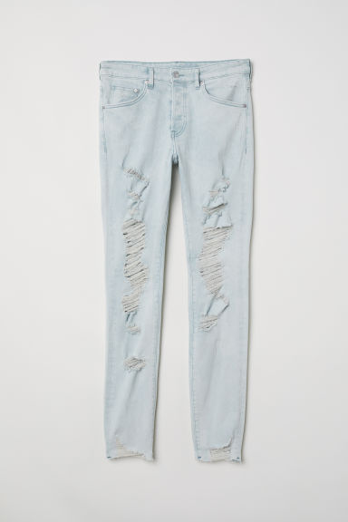 Skinny Trashed Jeans - Lichtblauw - HEREN | H&M NL