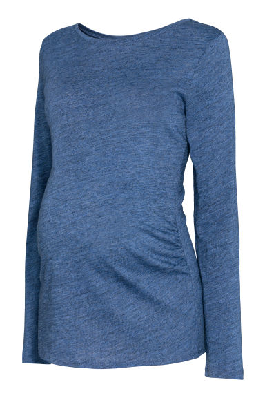 MAMA Tricot top - Blauw gemêleerd -  | H&M BE