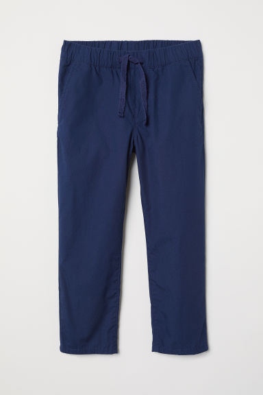 Pull-on cotton trousers - Dark blue -  | H&M CN