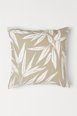 Leaf-patterned cushion cover