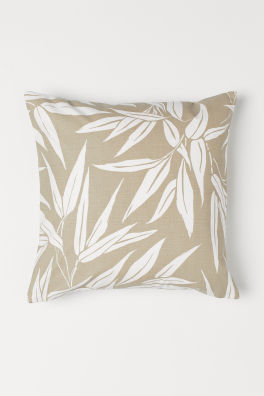 Leaf Patterned Cushion Cover