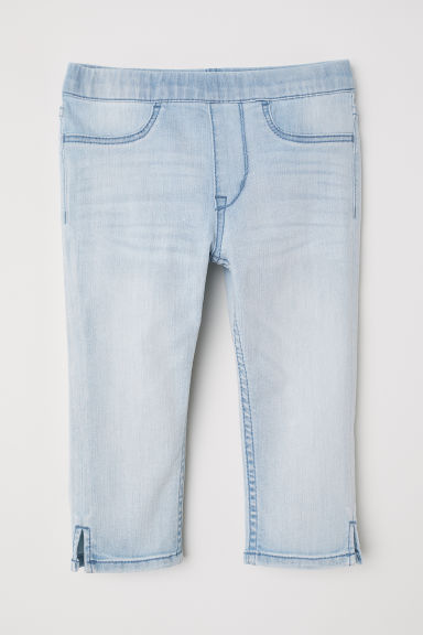 Capri denim leggings - Light denim blue - Kids | H&M