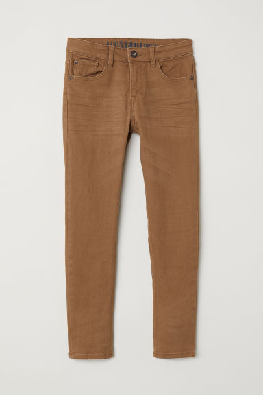 Twill trousers Skinny Fit - Camel - Kids | H&M CN