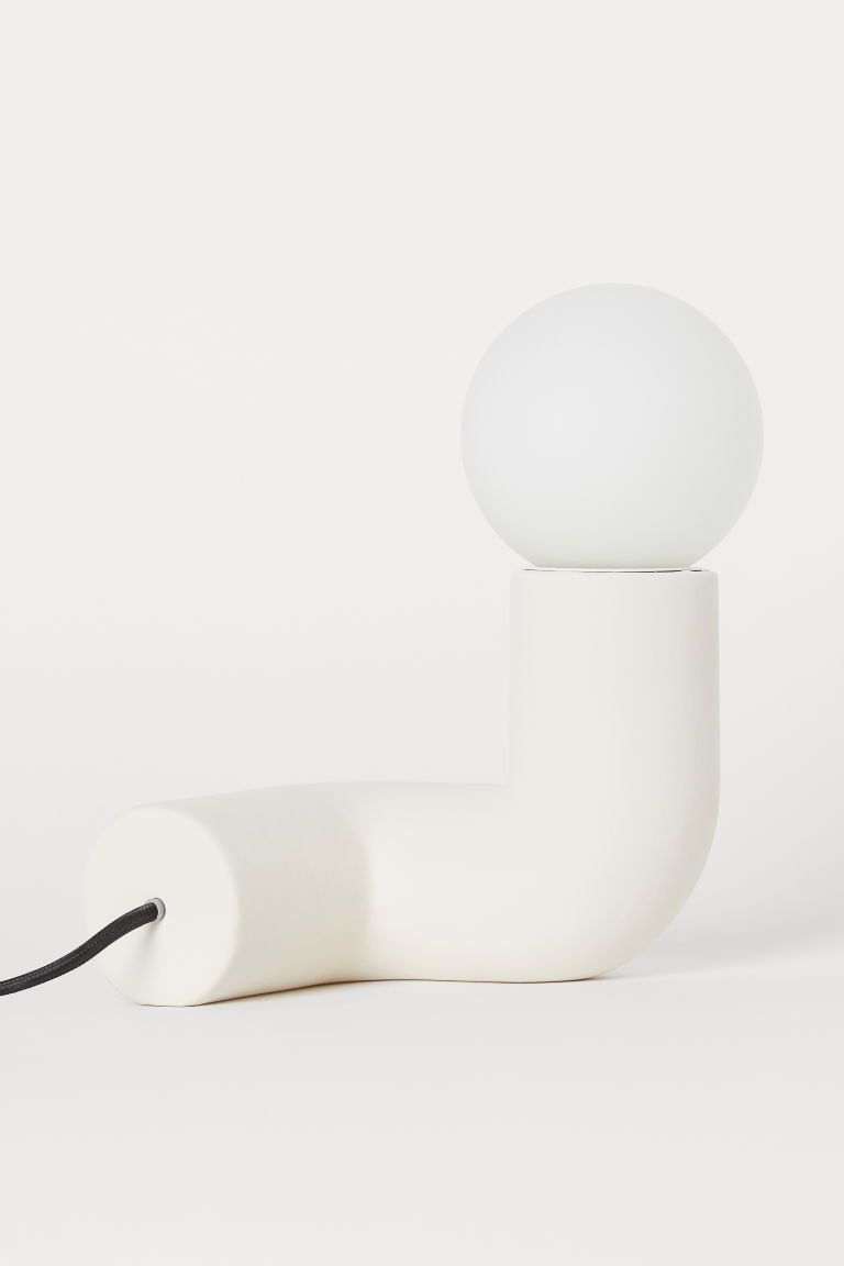 Ceramic table lamp - Natural white - Home All | H&M GB