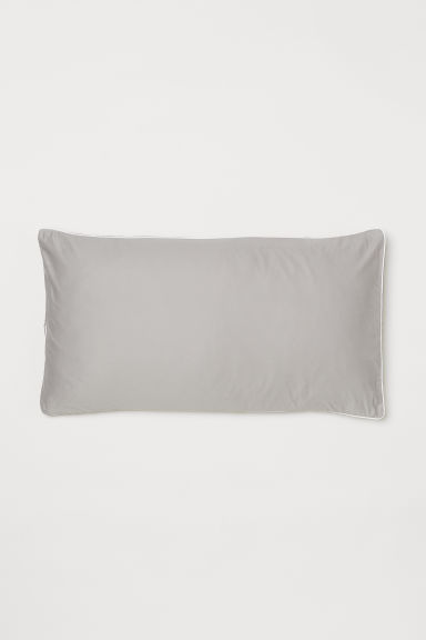 Cotton satin pillowcase - Light grey - Home All | H&M IE