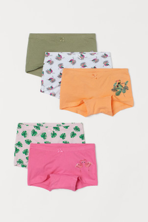 5-pack printed boxer briefs