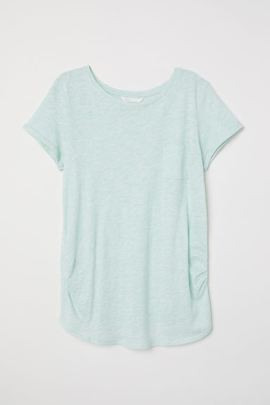 MAMA Jersey top - Light green marl -  | H&M CN