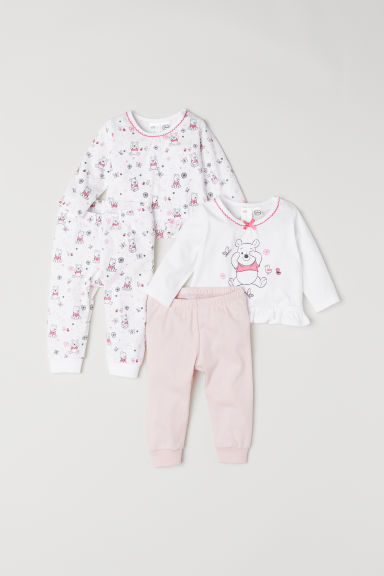 2-pack pyjamas - Light pink/Winnie the Pooh - Kids | H&M