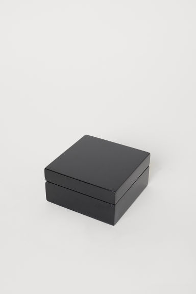Small wooden box - Black - Home All | H&M CN