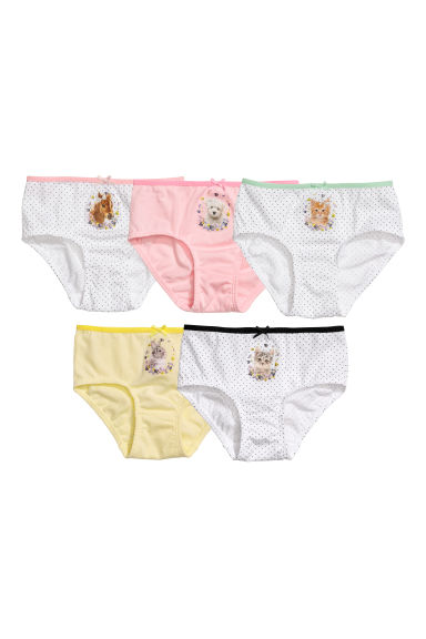 5-pack briefs - White/Animals - Kids | H&M CN