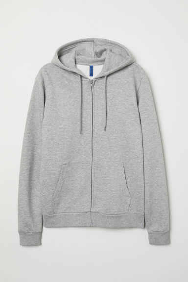Hooded jacket - Grey marl - Men | H&M IE