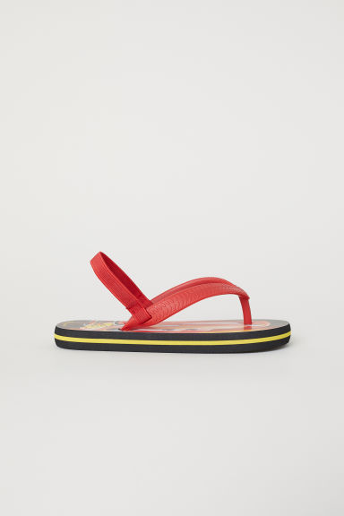 Printed flip-flops - Red/Lightning McQueen - Kids | H&M