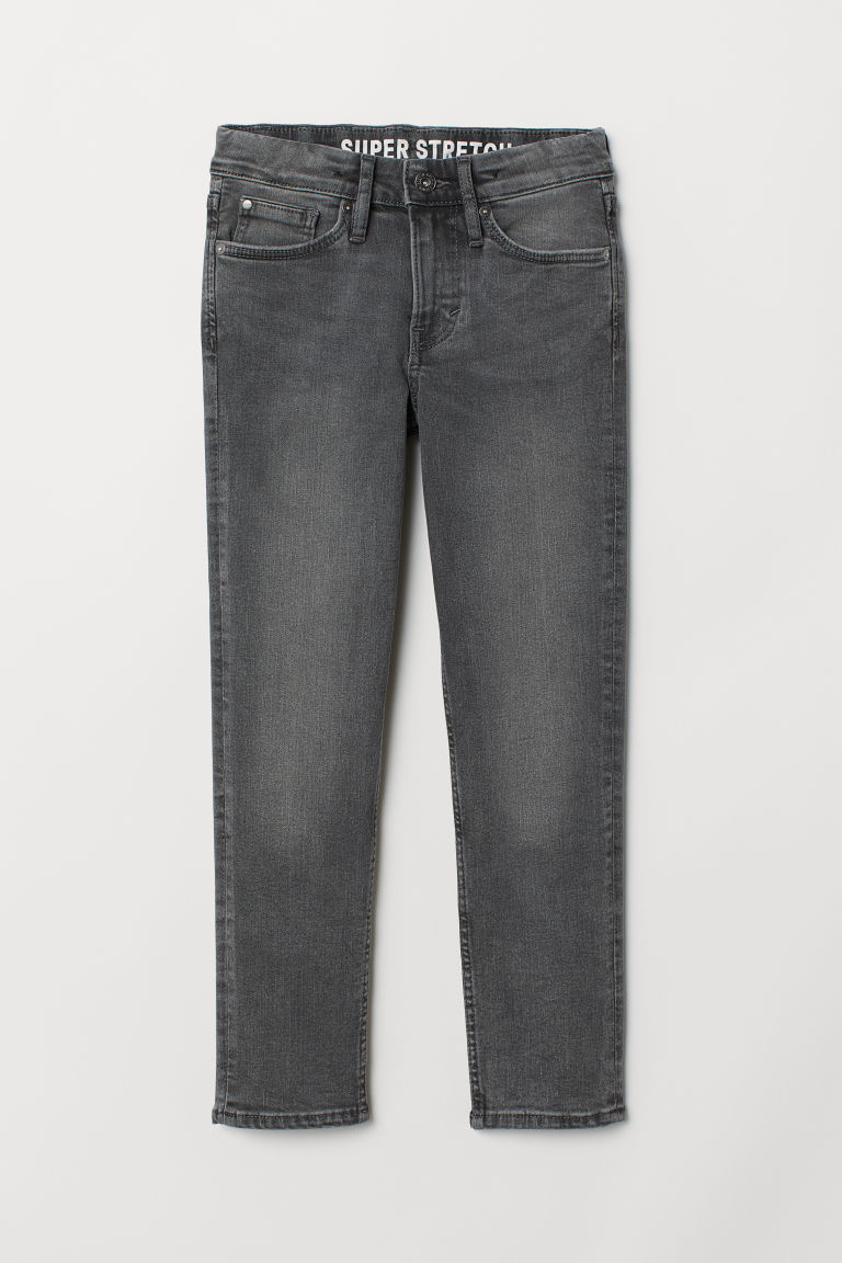 Superstretch Skinny Fit Jeans - 黑色水洗 - Kids | H&M CN
