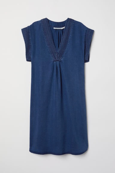 Lyocell dress - Dark blue - Ladies | H&M CN