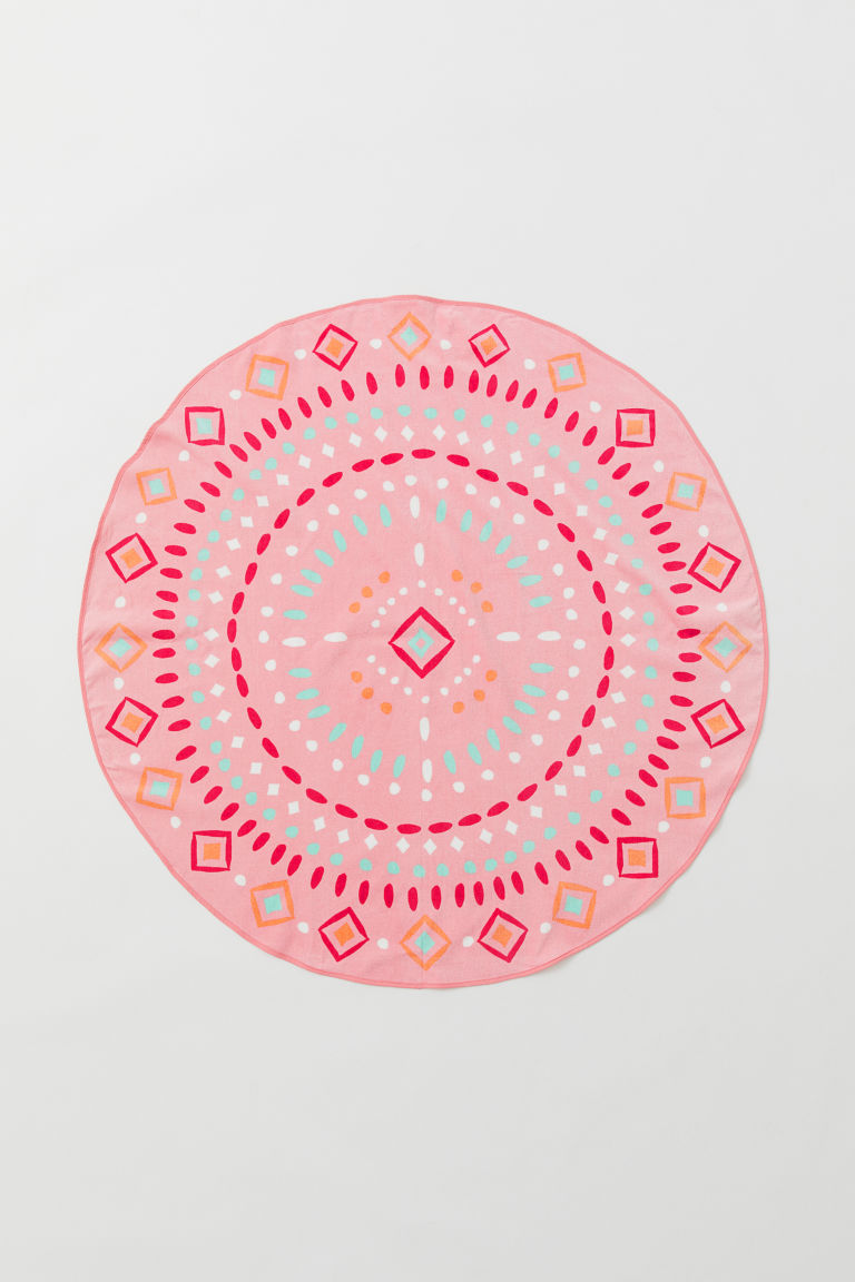 Round Beach Towel - Pink/patterned -  | H&M CA
