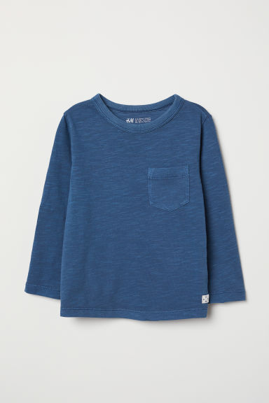 Tricot T-shirt - Blauw - KINDEREN | H&M BE