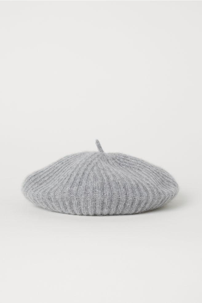 Cashmere beret - Light grey marl - Ladies  459742c63b4
