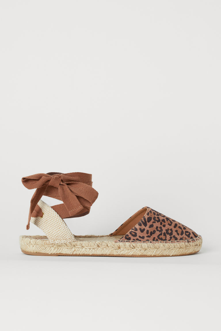 Espadrillas scamosciate - Marrone/leopardato - DONNA | H&M IT