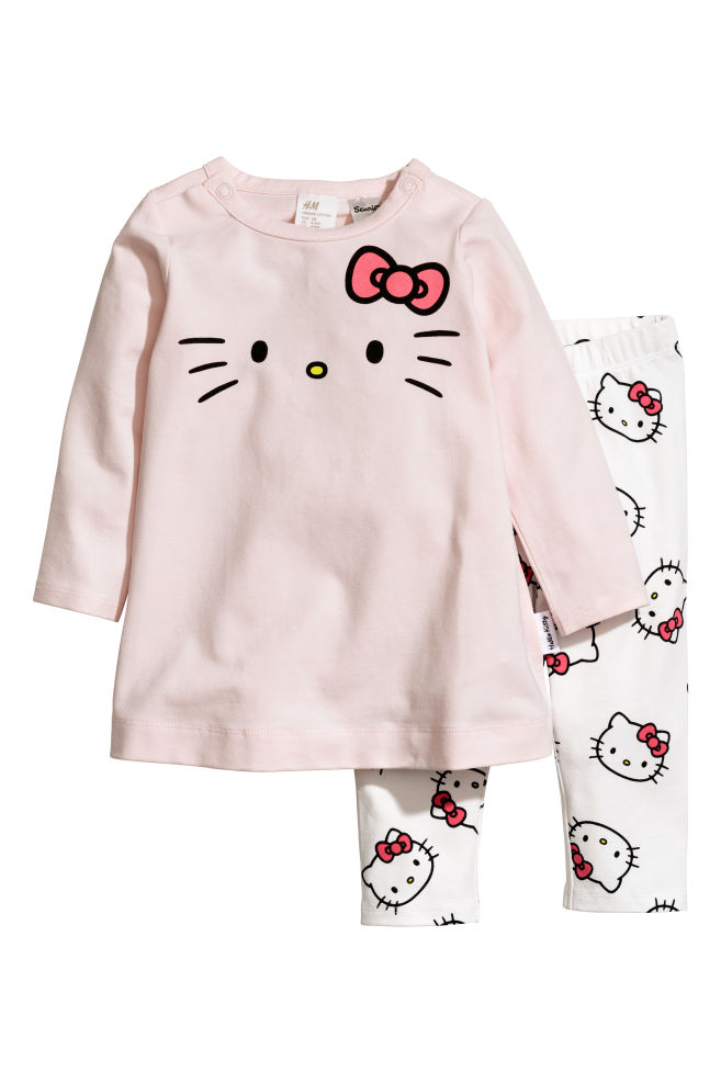 7393842147f Robe et legging - Rose Hello Kitty - ENFANT
