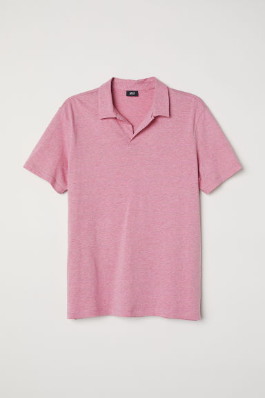 Polo shirt - Pink marl - Men | H&M CN