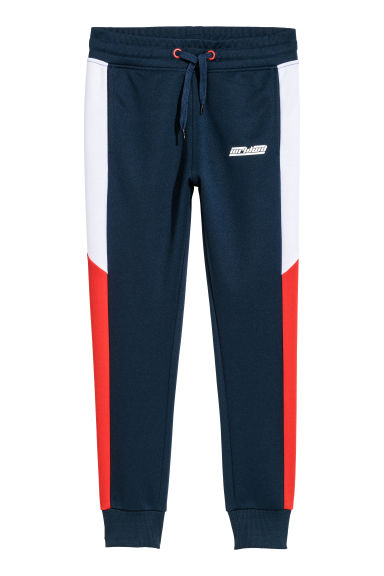 Joggers - Dark blue/Block-coloured - Kids | H&M CN