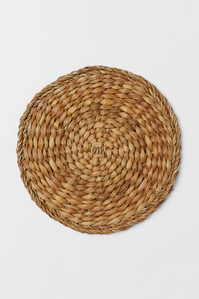Round seagrass table mat - Natural - Home All | H&M CN