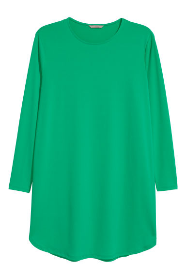 H&M+ Jersey tunic - Green - Ladies | H&M