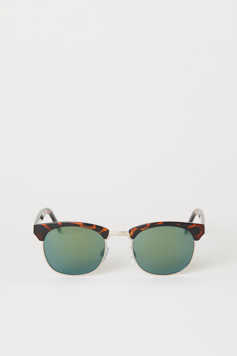 Sunglasses - Tortoiseshell-patterned/Green - Men | H&M CN