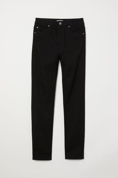 Slim High Waist Jeans - Black -  | H&M