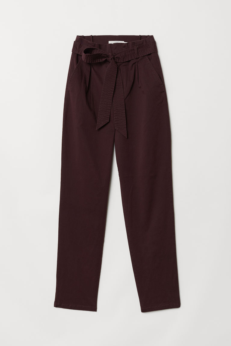 Pantaloni utility - Bordeaux - DONNA | H&M IT