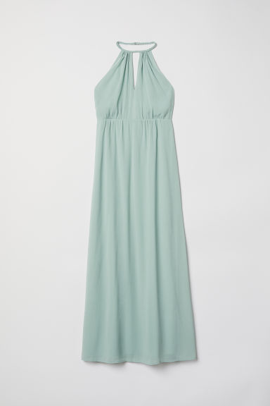 Chiffon halterneck dress - Mint green - Ladies | H&M