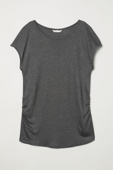MAMA Jersey top - Dark grey marl - Ladies | H&M CN