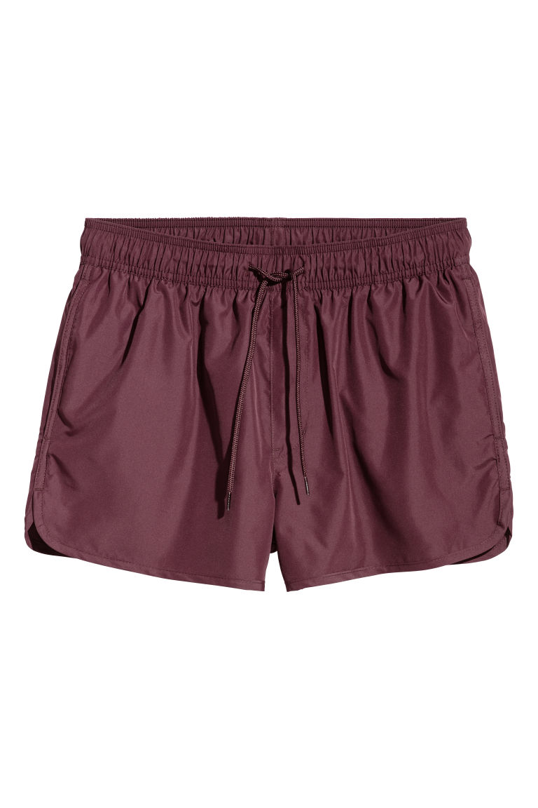 Short swim shorts - Burgundy - Men | H&M