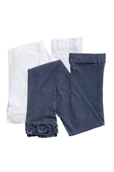 2-pack leggings - Dark blue - Kids | H&M